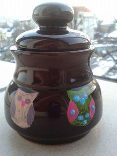 Handpainted owls Owls, Jar, Hand Painted, Home Decor, Decoration Home, Room Decor, Owl, Home Interior Design, Tawny Owl