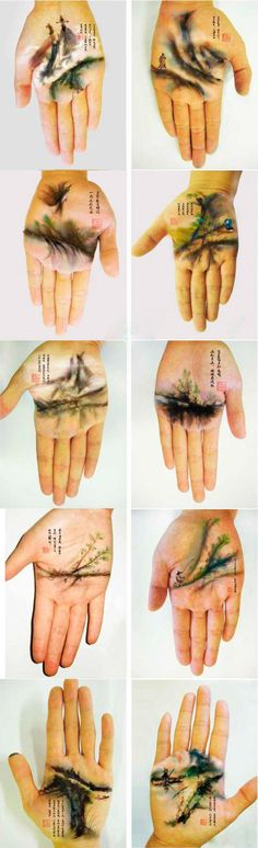 Excellent Chinese paintings in the palm of the hand