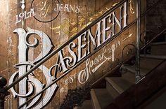 Lola Jeans Basement Speak Mural by Ashley Willerton