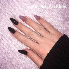 How to choose your fake nails? - My Nails Mauve Nails, Aycrlic Nails, Purple Nails, Black Nail Designs, Acrylic Nail Designs, Grunge Nails, Violet Pastel, Dream Nails, Cute Acrylic Nails
