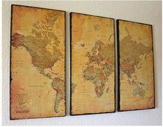 mural con mapa mundi