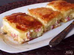 Pita sa krumpirom, slaninicom i sirom