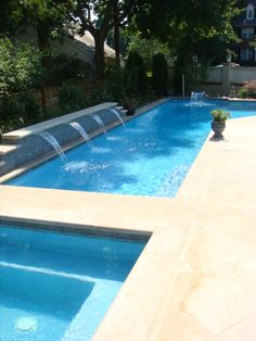 Pool stone waterfall st charles il by swim shack for Pool design basics