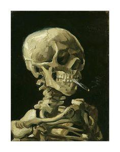 Head of a Skeleton with a Burning Cigarette, 1886 Lámina giclée por Vincent van Gogh en Art.com