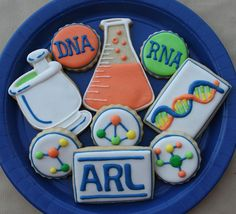 For the doctor of pharmacy   we shall attempt to make these!!!    Unique mad scientist / chemistry cookies