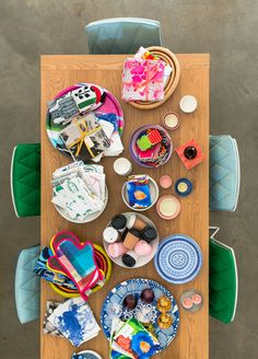 """The Design Files Open House: """"Dining setting by Jardan. Assorted tableware by Marimekko, Bonnie and Neil, over mitts by Penelope Durston, BYO Coffee cups. Via Design Files."""