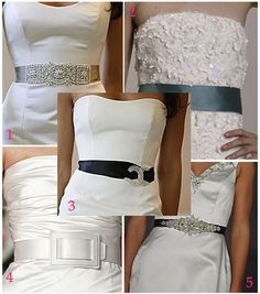 Belts for dresses diy wedding