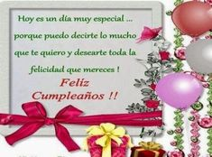 saludos para el dia onomastico de una hermana mensajes Send Birthday Card, Happy Birthday Quotes, Happy Birthday Wishes, Birthday Greeting Cards, Birthday Greetings, Pink Glitter Nails, Holiday Festival, Christmas Bulbs, Birthdays