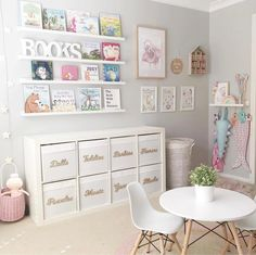 Playroom Design, Playroom Decor, Bedroom Decor, Playroom Ideas, Modern Playroom, Playroom Furniture, Furniture Ideas, Playroom Paint Colors, Girls Room Wall Decor