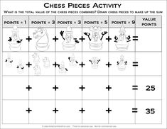 Printable Math Worksheets for kids with math symmetry, animal counting, pizza fractions, skip counting, multiplication grids and math adding printables. Pizza Fractions, Free Math Worksheets, Skip Counting, Math For Kids, Math Activities, Chess, Ads, Gingham