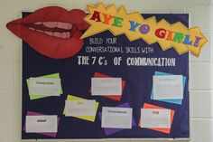 """Communication bulletin board. Lack of communication can be the spark to many roommate conflicts. Give your residents some tips on how to effectively talk to one another. I got """"the 7 c's of communication"""" from this infografic. http://www.pinterest.com/pin/508977195356919881/ ra / resident advisor / resident assistant"""