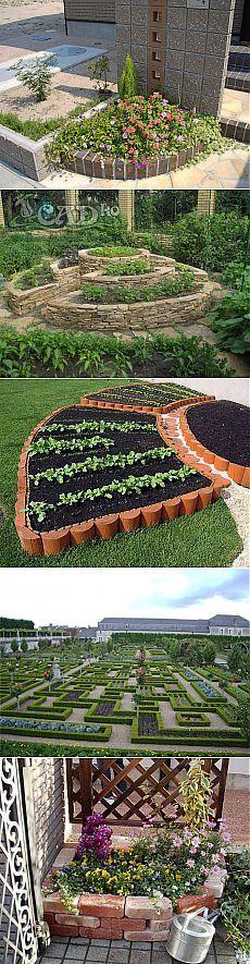 Декоративный огород.Оформляем грядки и клумбы.