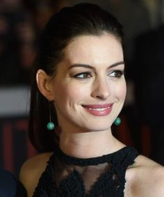 16 Chic Celebrity Ponytail Hairstyles for 2016: #8. Anne Hathaway Simple Yet Stylish Ponytail