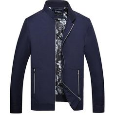 Stand Collar Fall Solid Color Pockets Simple Style Jacket for Men Stylish Mens Outfits, Casual Outfits, Pinterest Fashion, College Fashion, Mens Sweatshirts, Designer Wear, Trendy Fashion, Fashion Blogs, Moda