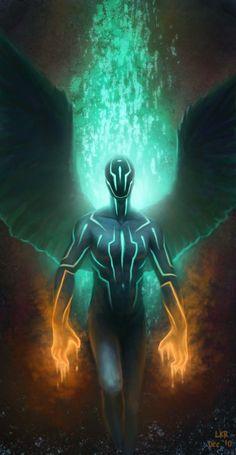 Tron Angel by lancer-idenoure.deviantart.com on @deviantART