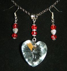 Valentines-Day-Crystal-HEART-CHARM-HEART-PENDANT-for-NECKLACE-EARRINGS-SET