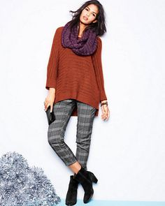 Ribbed-Detail Boxy Sweater (#29452)