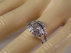 1930s Diamond Wedding Ring set .50Ctw White by estatejewelryshop, $925.00