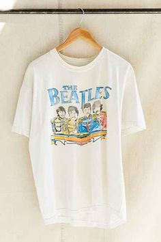 Vintage The Beatles Band Tee - Urban Outfitters @urbanoutfitters