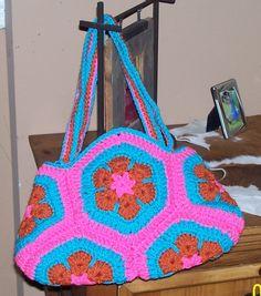 Crochet African Flower Purse
