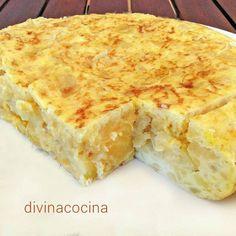 Tortilla de patatas al microondas < Divina Cocina