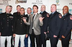 Robert Downey Jr. saluting REAL heroes on Avengers red carpet? Nothing is sexier than a man who supports our troops, cops & firemen!