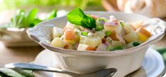 Try this tasty adaptation of traditional potato salad that's great served on a buffet or as part of a main meal. Turn your al fresco feast into a Food Optimised fiesta! Vegetable Medley, Potato Vegetable, Vegetable Recipes, Vegetable Sides, Oven Baked Vegetables, Veggies, Fresh Vegetables, Baked Potato Recipes, Cooking Recipes