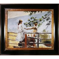 Tori Home On the Stile by Winslow Homer Framed Painting