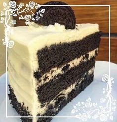 Imagen de cake, food, and oreo Healthy Desserts, Delicious Desserts, Yummy Food, Cake Recipes, Snack Recipes, Dessert Recipes, Cookies And Creme Cake, Cake Cookies, Oreo Torta