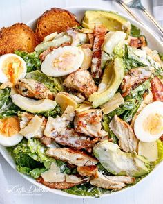 """""""You know what's going bonkers on the World Wide Web this week thanks to @buzzfeed !  THIS Skinnified and healthified Chicken and Avocado Caesar Salad!…"""""""