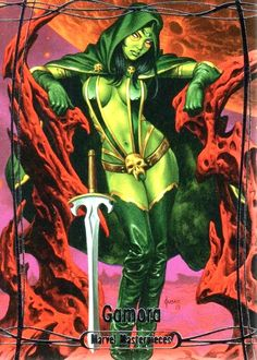 Gamora (Marvel Masterpieces by Joe Jusko Gamora Comic, Gamora Marvel, Marvel Comics, Marvel E Dc, Marvel Women, Marvel Heroes, Marvel Universe, Comic Book Girl, Comic Books Art