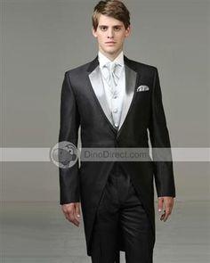 Walesbridal Stylish Satin Lapel Single Breasted Men Wedding Tuxedos Set 3Pcs - US DinoDirect.com