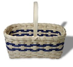 """Designed for beginners, these basket kits include detailed photo instructions and all materials necessary to make the basket. Basket Dimensions: 11"""" x 7"""" x 5""""."""