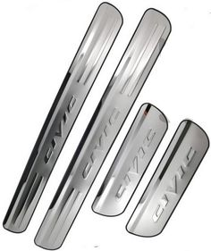 2006-2015 Honda Civic Stainless Steel 4 Door Sill Scuff Plate JDM New From USA