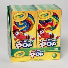 Candy Crayola Color Wheel Pop 2.8 Oz / 24 pcs