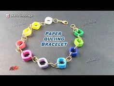 DIY Paper Quilling Bracelet Tutorial | How to make | JK Arts 920 - YouTube