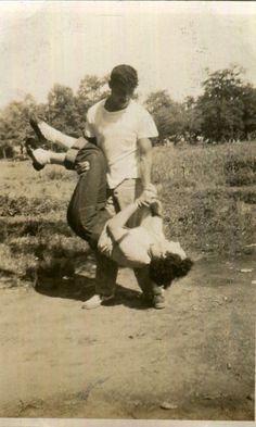 Vintage Photo..Swept Off Her Feet, 1940's Original Found Photo, Vernacular Photography by iloveyoumorephotos on Etsy