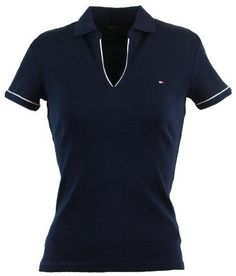 Tommy Hilfiger Women Classic Fit Buttonless Logo Polo Shirt Tommy Hilfiger. $44.99