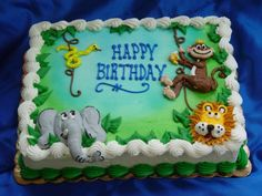 Jungle theme cake--9 x 13 to serve 20-25---$95