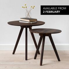 In stores from Thursday 2 February* // Anna and Clara have produced new coffee tables from solid, smoked walnut wood. Prices from DKK 248,00 / SEK 344,00 / NOK 358,00 / EUR 34,80 / ISK 6759 *NB! The coffee tables will not be available for sale in Ireland and the UK.  #coffeetable #sidetable #table #smokedwalnut #interior #homedecor #homedecorating #sostrenegrene #søstrenegrene #grenehome
