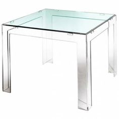 Acrylic Parsons Table in Clear Top Also Shown with .25