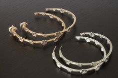 Hoops in Bronze Plated 22k Gold and Sterling SIlver by RSBP Jewelry