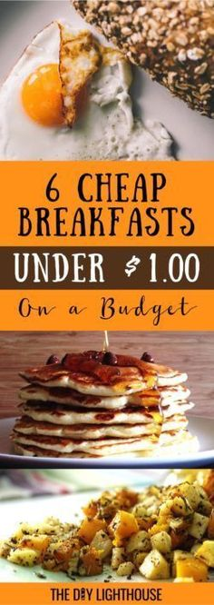 Cheap breakfast ideas on a budget Cooking For A Crowd, Cooking On A Budget, Budget Meals, Easy Cooking, Easy Budget, Budget Breakfasts, Food On A Budget, Cooking Recipes, Tight Budget