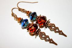 Steampunk Earrings Clock Hand Earrings Brown by CreativeCutes