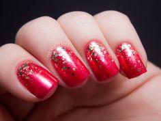 Chalkboard Nails #nails  #polish  #glitter  #bornprettystore  #beauty