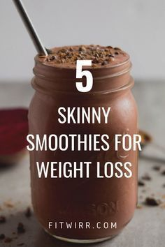 5 Best Smoothie Recipes for Weight Loss. 5 Skinny smoothies for weight loss. 5 delicious and nutrient rich smoothie recipes for weight loss. Begin your day with one of these weight loss drinks to quell hunger and rev your metabolism. Best Smoothie Recipes, Good Smoothies, Juice Smoothie, Smoothie Drinks, Detox Drinks, Healthy Drinks, Healthy Snacks, Healthy Eating, Low Calorie Smoothie Recipes