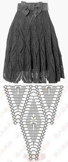 Le système de jupes classique, crochet tricoté main    maison de laboratoire