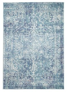 Safavieh Evoke Quinn Vintage Boho Medallion Distressed Rug x Square - Blue/Ivory) Square Rugs, 9 Square, Navy Rug, Flamboyant, Transitional House, Transitional Lighting, Transitional Bedroom, Traditional Area Rugs, Traditional Design