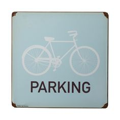 Fluffy Co Cycling Gifts | Fluffy Co Bike Parking Metal Sign | Bicycle Gift | Terry Bicycles