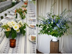 Layers of colours and textures in this wedding designed by Mckenzie Powell